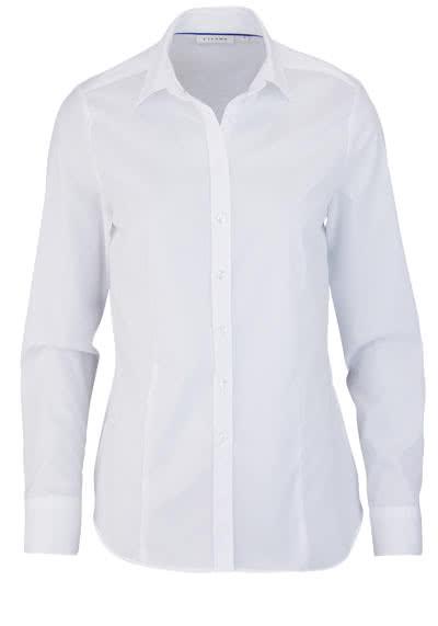 ETERNA Comfort Fit Bluse Langarm Hemdkragen weiß - Hemden Meister