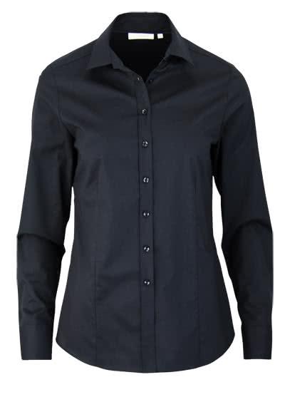 ETERNA Comfort Fit Bluse Langarm mit Hemdkragen schwarz - Hemden Meister