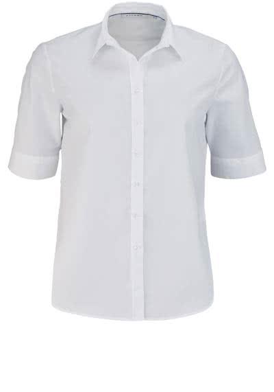 ETERNA Comfort Fit Bluse Halbarm mit Hemdkragen weiß - Hemden Meister