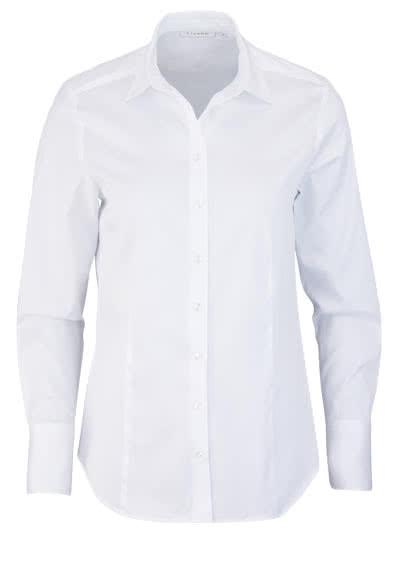 ETERNA Comfort Fit Bluse Langarm Hemdenkragen Schulterpasse weiß - Hemden Meister