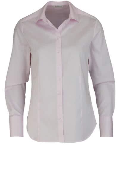 ETERNA Comfort Fit Bluse Langarm Hemdenkragen Schulterpasse rosa - Hemden Meister