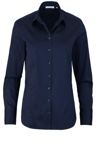 ETERNA Comfort Fit Bluse Langarm Hemdenkragen Schulterpasse nachtblau - Hemden Meister
