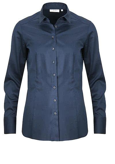 ETERNA Slim Fit Bluse Langarm Hemdkragen Stretch nachtblau - Hemden Meister