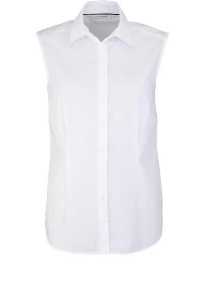 ETERNA Comfort Fit Bluse ohne Arm Hemdenkragen swiss+cotton weiß - Hemden Meister