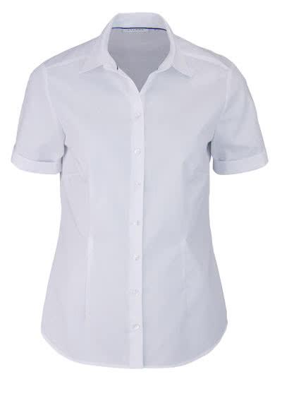 ETERNA Comfort Fit Bluse Halbarm Hemdenkragen swiss+cotton weiß - Hemden Meister