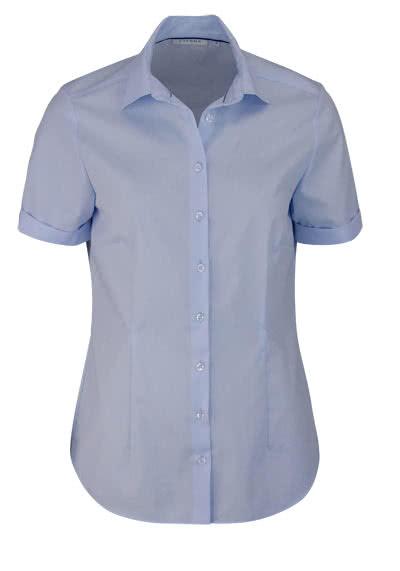 ETERNA Comfort Fit Bluse Halbarm Hemdenkragen swiss+cotton hellblau - Hemden Meister