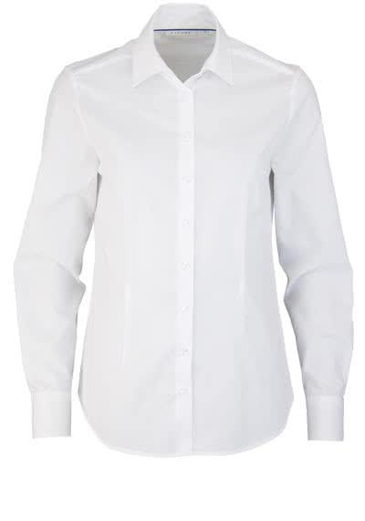 ETERNA Comfort Fit Bluse Langarm Hemdenkragen swiss+cotton weiß - Hemden Meister