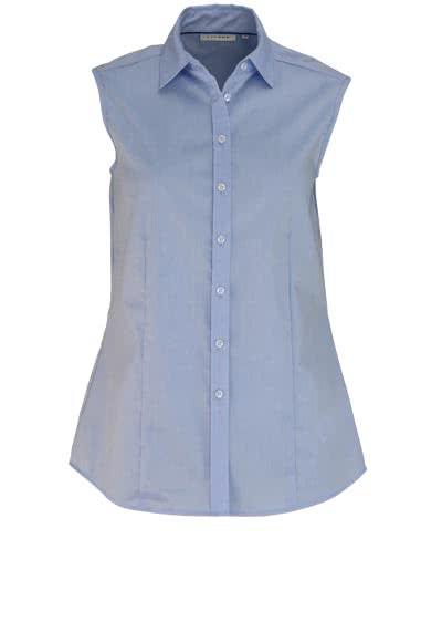 ETERNA Comfort Fit Bluse ohne Ärmel Hemdkragen hellblau - Hemden Meister