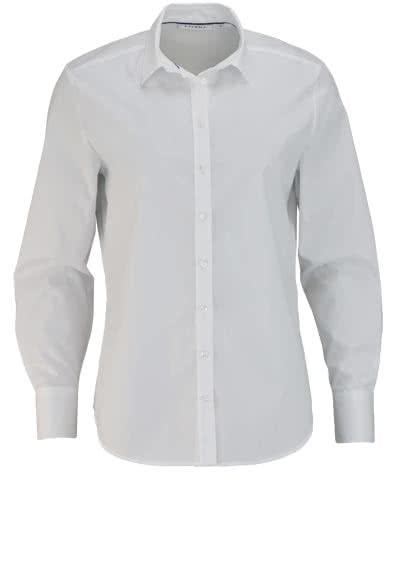 ETERNA Comfort Fit Bluse Langarm Hemdenkragen Stretch weiß - Hemden Meister