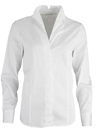 ETERNA Comfort Fit Bluse Langarm Stretch weiß - Hemden Meister