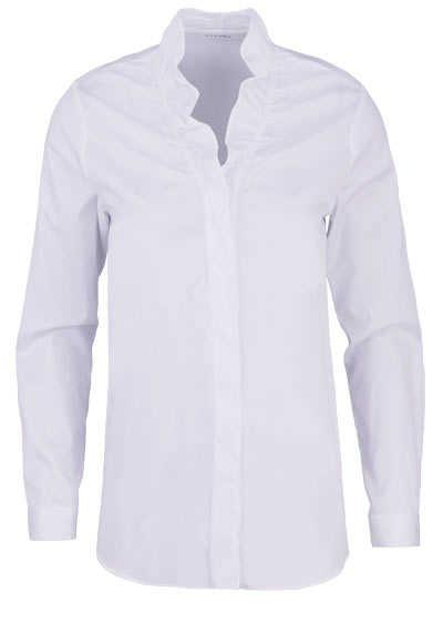 ETERNA Modern Fit Bluse Langarm Rüschenkragen Stretch weiß - Hemden Meister
