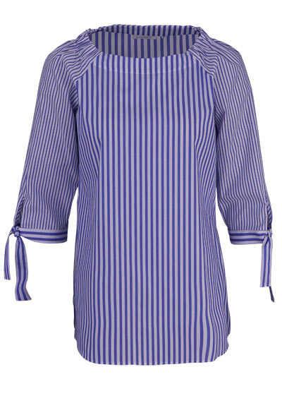 ETERNA Modern Fit Bluse 3/4 Arm bügelfrei Streifen mittelblau - Hemden Meister
