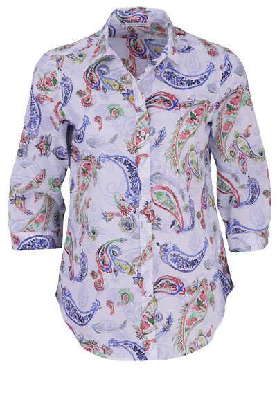ETERNA Modern Fit Bluse Langarm Hemdkragen Muster dunkelblau - Hemden Meister