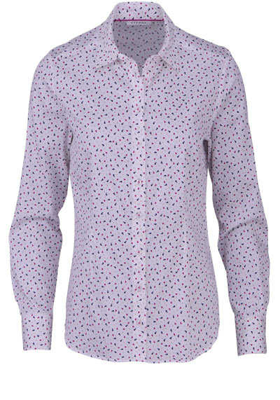 ETERNA Modern Fit Bluse Langarm Hemdkragen Muster nachtblau - Hemden Meister