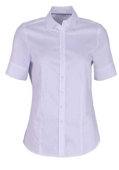 ETERNA Modern Fit Bluse Halbarm Hemdkragen Punkte weiß - Hemden Meister