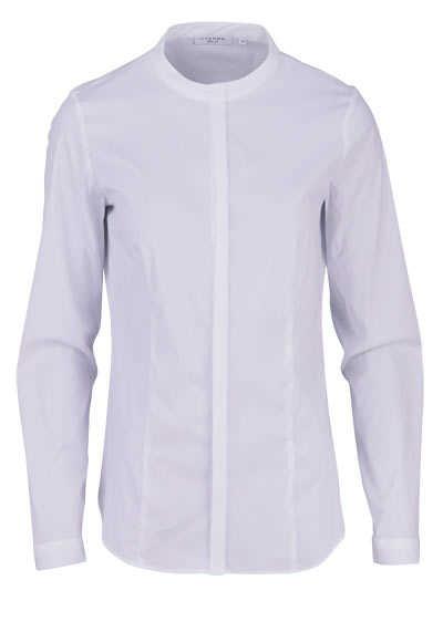 ETERNA Slim Fit Bluse Langarm taillierte Abnäher Stretch weiß - Hemden Meister