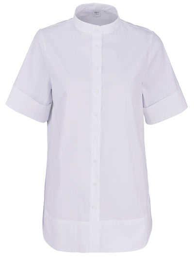 ETERNA Modern Fit 1863 Bluse Halbarm Rundhals Stretch weiß - Hemden Meister
