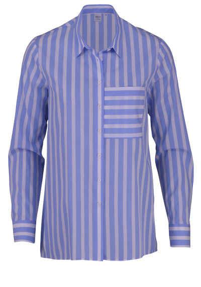 ETERNA Modern Fit 1863 Bluse Langarm Streifen hellblau - Hemden Meister