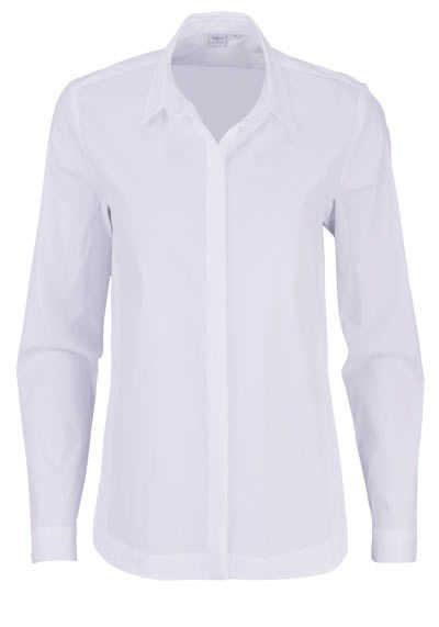 ETERNA Modern Fit 1863 Bluse Langarm Hemdkragen Stretch weiß - Hemden Meister