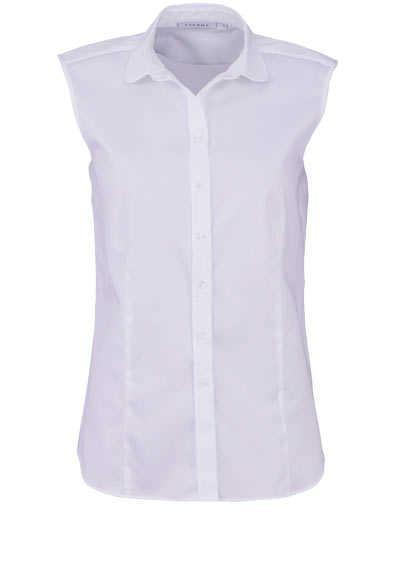 ETERNA Modern Fit Bluse ohne Arm Hemdkragen Stretch weiß - Hemden Meister