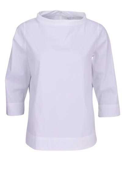 ETERNA Modern Fit 1863 Bluse Langarm Rundhals Stretch weiß - Hemden Meister