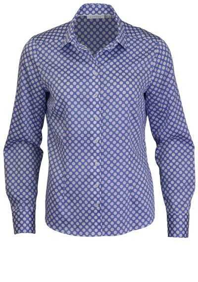 ETERNA Comfort Fit Bluse Langarm Hemdenkragen Punkte hellblau - Hemden Meister