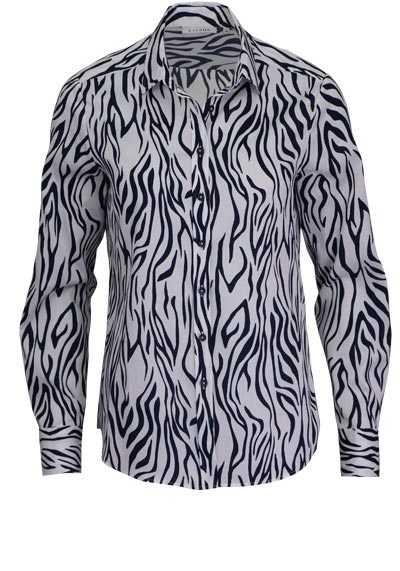 ETERNA Comfort Fit Bluse Langarm Hemdkragen Muster dunkelblau - Hemden Meister