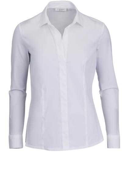 ETERNA Slim Fit Bluse Langarm Hemdkragen Stretch weiß - Hemden Meister