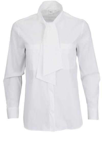 ETERNA Modern Fit Bluse Langarm Rundhalskragen Stretch weiß - Hemden Meister