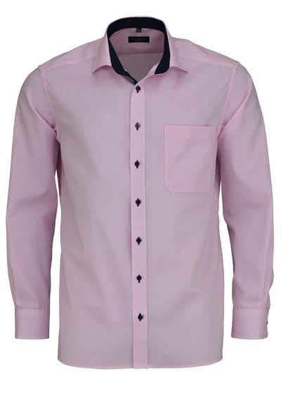 ETERNA Comfort Fit Hemd Langarm mit Brusttasche Oxford rosa - Hemden Meister