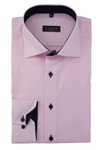 ETERNA Modern Fit Hemd super langer Arm Oxford rosa preisreduziert