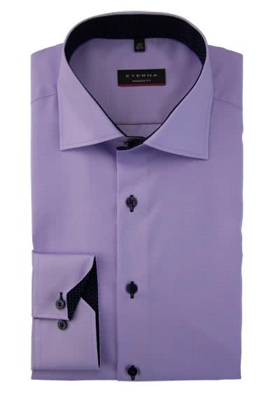ETERNA Modern Fit Hemd super langer Arm Oxford mauve preisreduziert