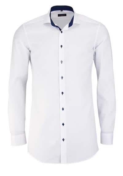 ETERNA Slim Fit Hemd Langarm mit Patch Oxford weiß - Hemden Meister