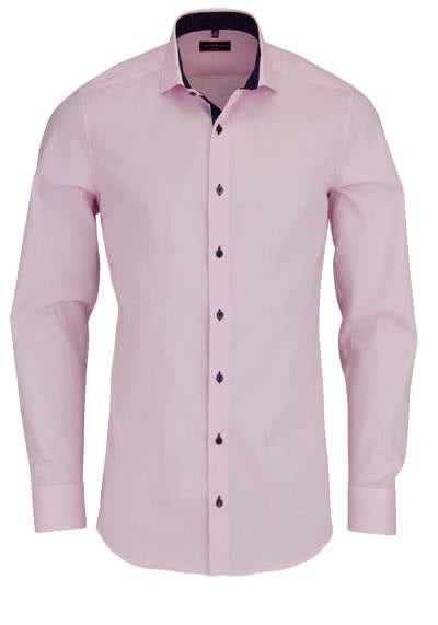ETERNA Slim Fit Hemd Langarm mit Patch Oxford rosa - Hemden Meister