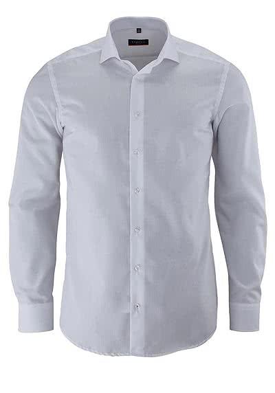 ETERNA Slim Fit Hemd Langarm mit New Kent Kragen Popeline weiß - Hemden Meister