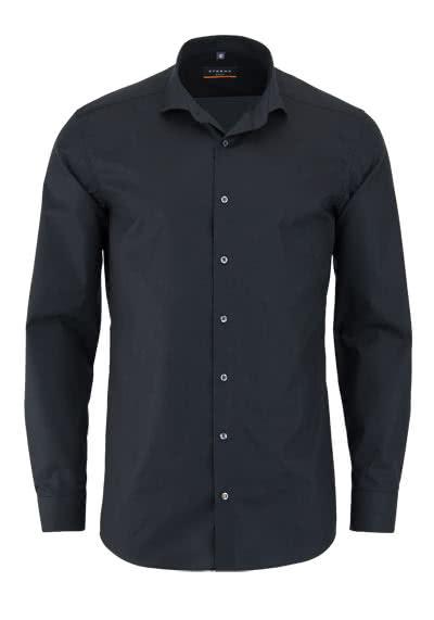 ETERNA Slim Fit Hemd Langarm mit New Kent Kragen Popeline schwarz - Hemden Meister