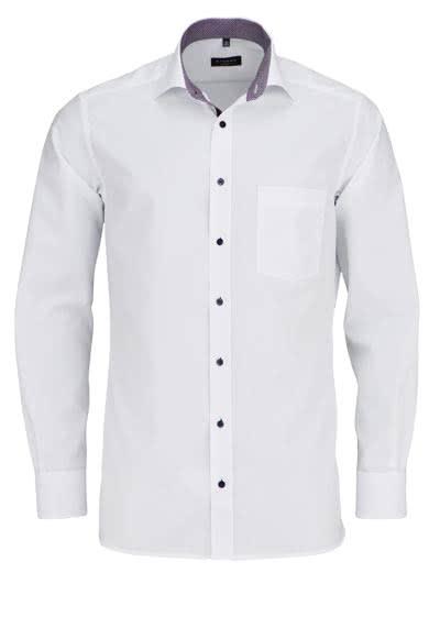 ETERNA Modern Fit Hemd extra langer Arm mit Patch weiß - Hemden Meister