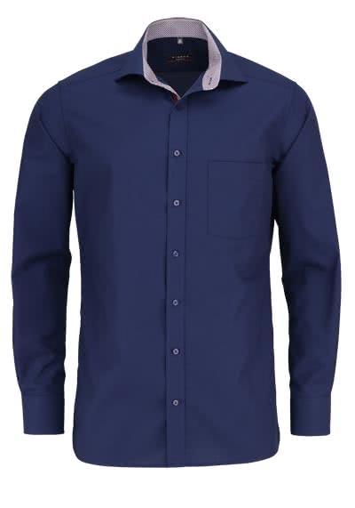 ETERNA Modern Fit Hemd Langarm Chambray nachtblau - Hemden Meister