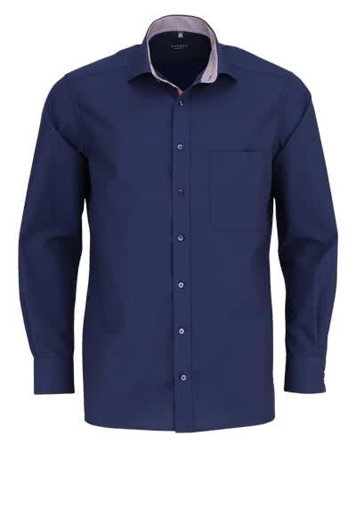 ETERNA Comfort Fit Hemd Langarm Chambray nachtblau - Hemden Meister