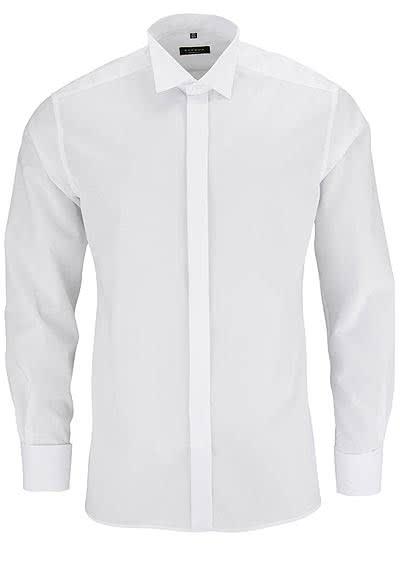 ETERNA Modern Fit Galahemd Langarm ohne Manschettenknopf weiß - Hemden Meister