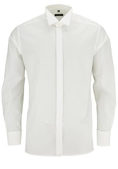 ETERNA Modern Fit Galahemd Langarm ohne Manschettenknopf beige - Hemden Meister