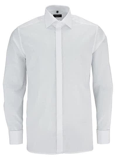 ETERNA Modern Fit Galahemd Langarm Popeline weiß ohne Manschettenknopf - Hemden Meister