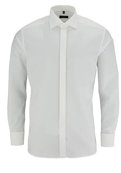 ETERNA Modern Fit Galahemd Langarm Popeline beige o. Manschettenknopf - Hemden Meister