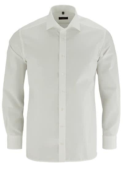 ETERNA Modern Fit Hemd Langarm ohne Brusttasche Popeline beige - Hemden Meister