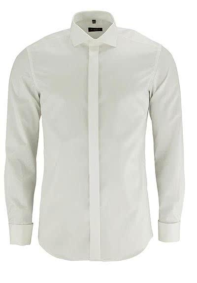 ETERNA Slim Fit Gala Hemd Langarm New Kent Twill beige - Hemden Meister