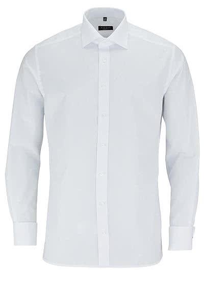 ETERNA Modern Fit Gala Hemd Langarm ohne Manschettenknopf weiß - Hemden Meister