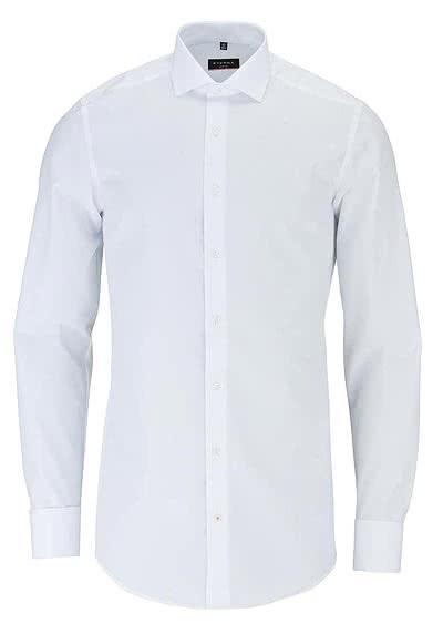 ETERNA Slim Fit Gala Hemd Langarm ohne Manschettenknopf weiß - Hemden Meister