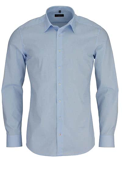 ETERNA Slim Fit Hemd Langarm New Kent Stretch hellblau - Hemden Meister