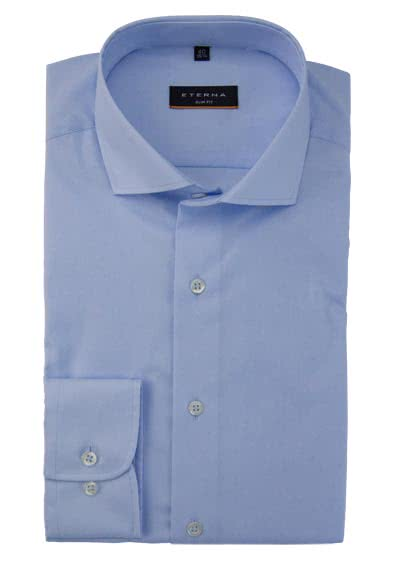 ETERNA Slim Fit Hemd Langarm New Kent Stretch hellblau