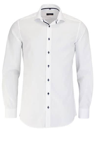 ETERNA Slim Fit Hemd Langarm Kragenband Stretch weiß - Hemden Meister